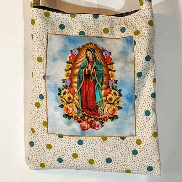 Milk Drunk Clothing Handbags - Our Lady Of Guadalupe Reusable Market Tote Bag NWT
